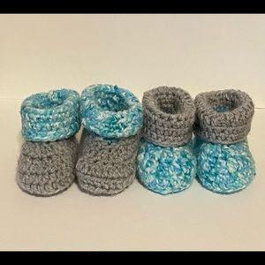 Crochet fold over booties